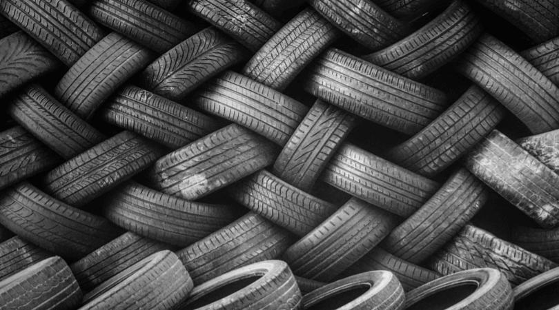 mound of car tyres